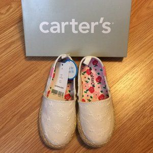 Carter's Toddler White Shoes Girl Size 8